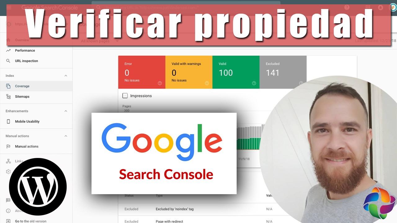 Verificación propiedad Google Search Console
